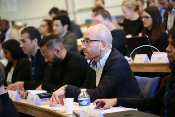 HEC Paris Executive MBA alum Roland Salameh in concentration mode.