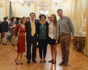 Romanian professors and event organizers
