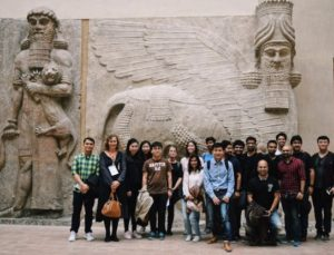 MBA students on a private tour of the Louvre