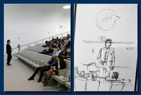 A sketch of the Making the Most out of Your MBA presentation