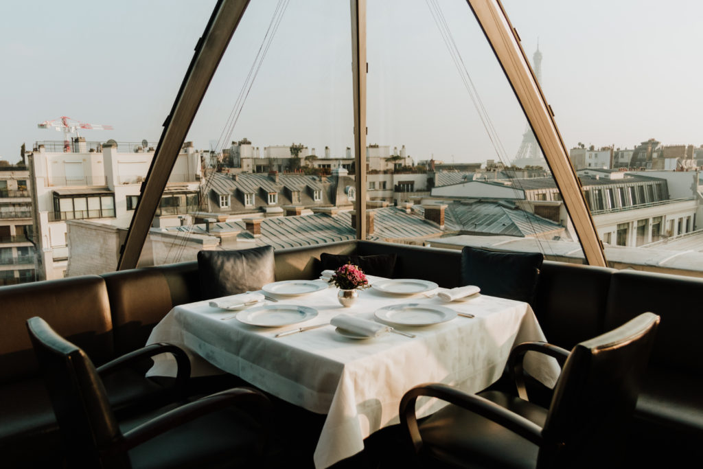 View from the Oiseau Blanc restaurant at the Peninsula Paris