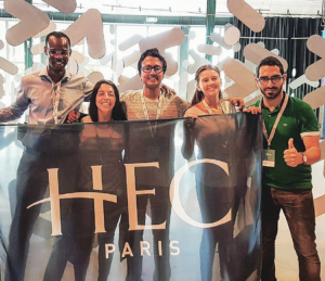 Team Agri Yolo, consisting of students Mamoudou Bocoum, Shir Sheftel, Sathvik Ganesan,Tatiana Ángel and Samijoe Saroufim, at the Thought For Food summit in Amsterdam