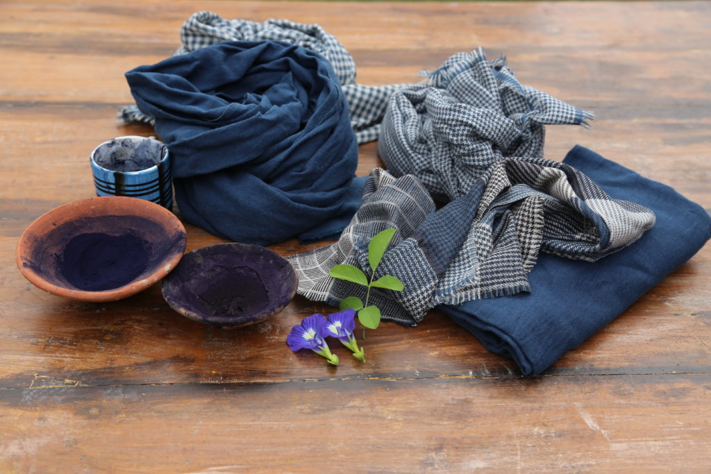 The social change project GamcHHa creates scarves dyed using natural ingredients