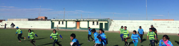 Children in Bolivia playing rugby