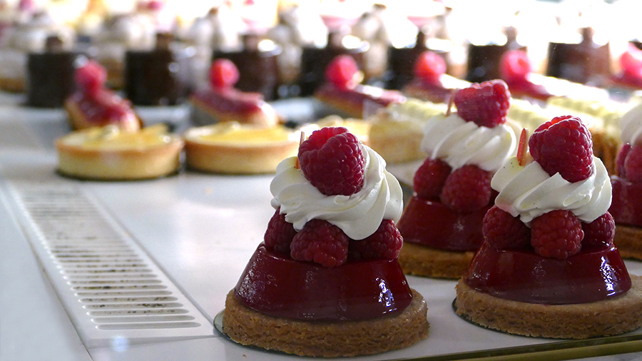 """Raspberry Tarts are just one of many """"patisseries"""" on offer at the chateau"""