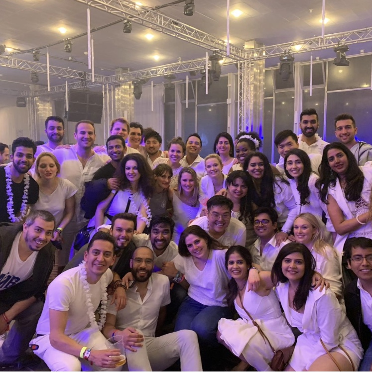 Looking sharp at the All-in-White party