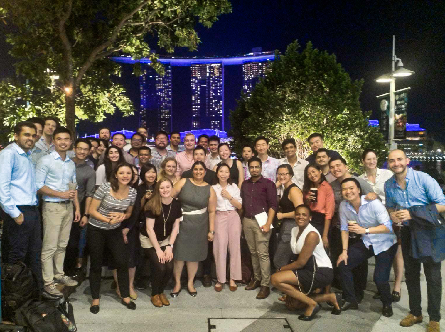 An evening networking event organized by MBA alumni living in Singapore