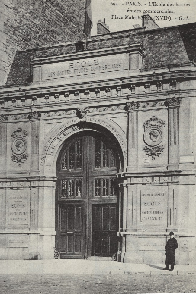 Image of HEC's original campus on rue de Tocqueville in Paris, near Parc Monceau