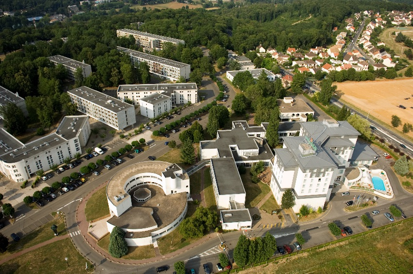 Image of aerial view of campus