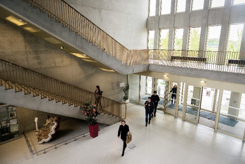 Photo of aerial view of S building's interior