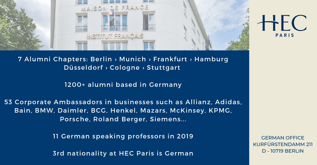 Statistics about the German influence at HEC Paris