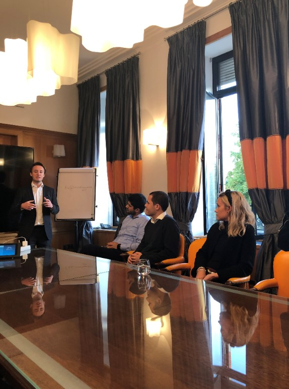 In the boardroom at the Veuve Clicquot headquarters for a Q&A with Arnaud Troussier, an HEC Paris alumnus and the Asia Business Development Manager for Veuve Clicquot Ponsardin.