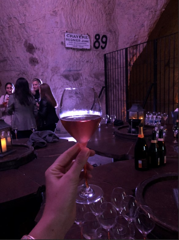 Champagne tasting in the cellars of Veuve Clicquot