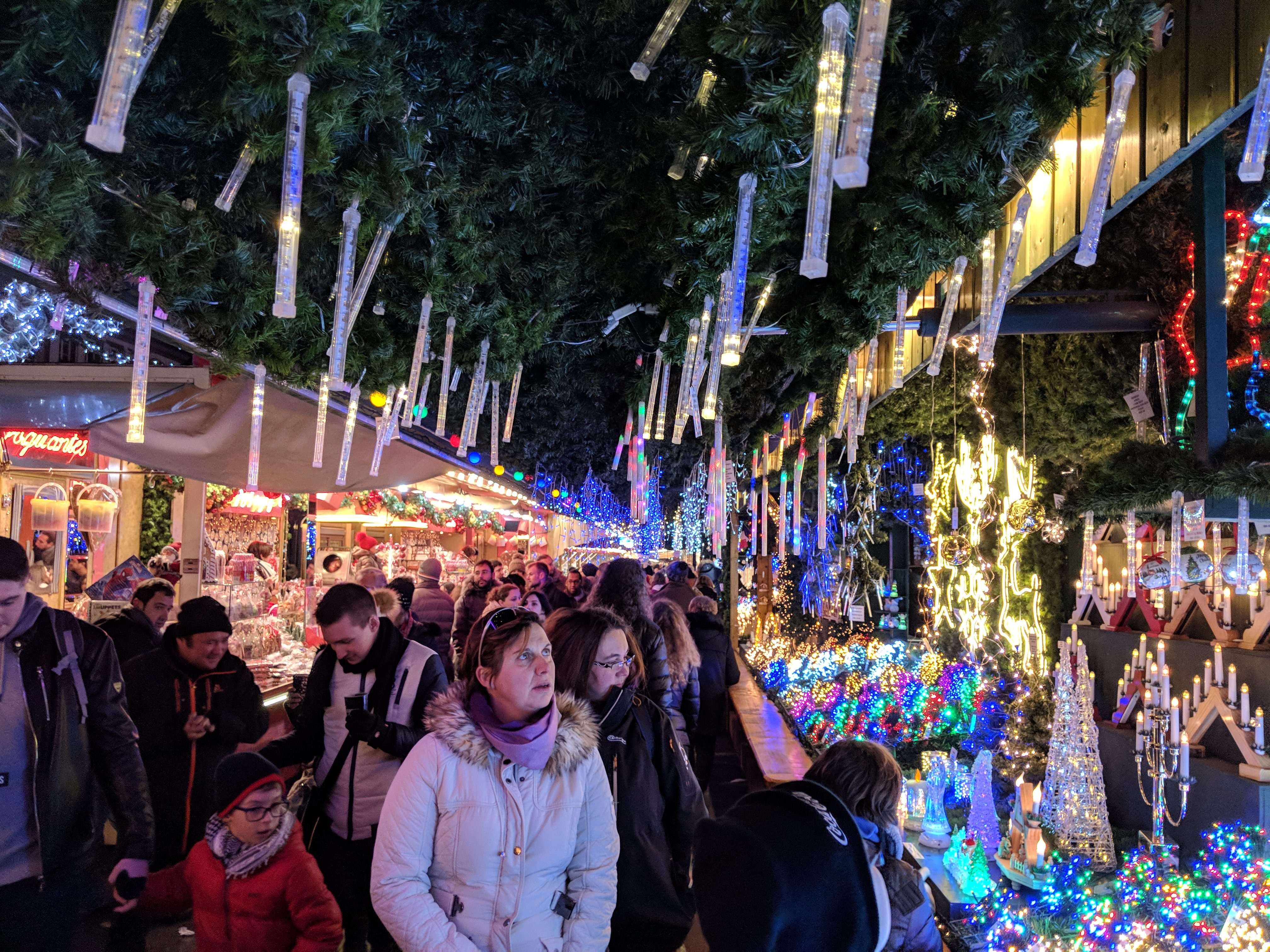 A Christmas market in Strasbourg