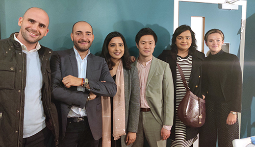 Shikha with members of the HEC Paris MBA's Retail and Luxury Club