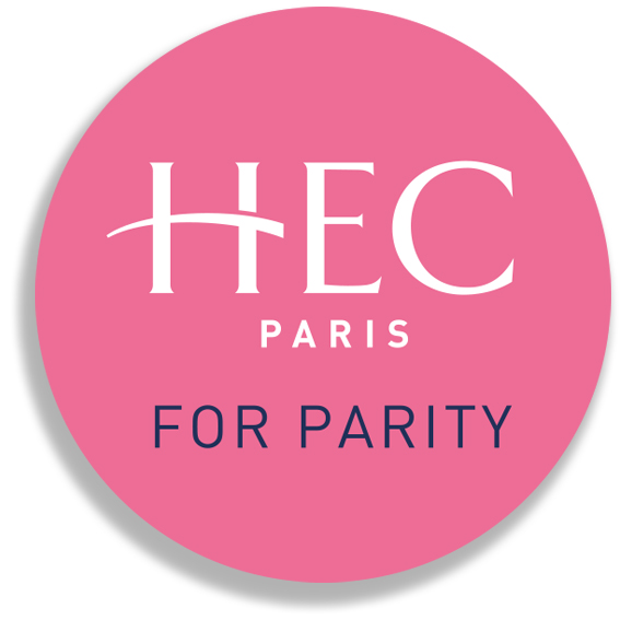 HEC Paris for Parity buttons were distributed throughout the MBA
