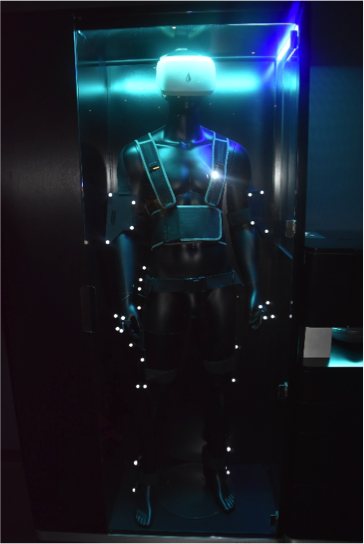 A VR set on a mannequin in the headquarters
