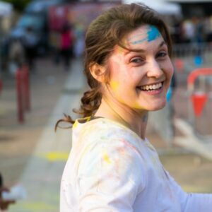 Holi Festival at HEC, co-organized by a group of MBA students