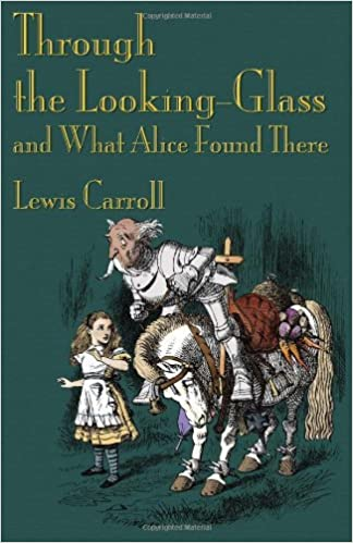 Book cover of 'Through the looking glass' by Lewis Carroll