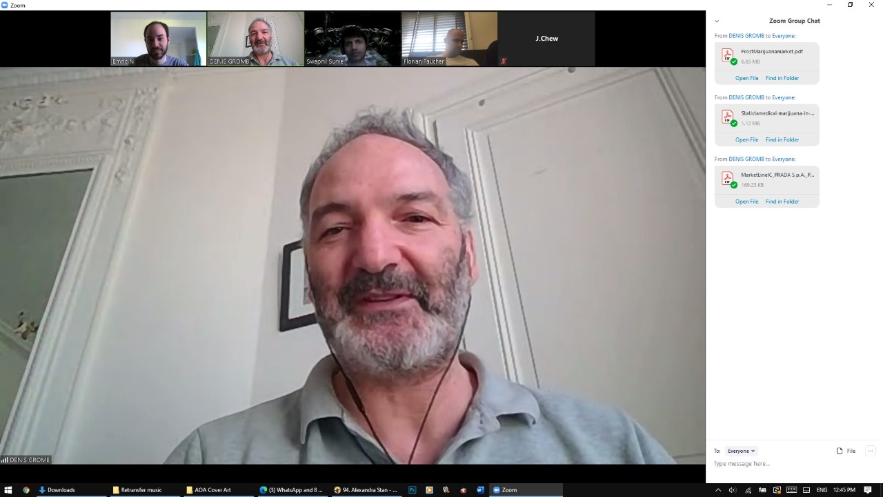 Coffee-and-Talk Zoom with an HEC Paris MBA professor (Prof. Denis Gromb), which took place after finals. Limited to 3 students per session, Professor Gromb had 8 hours blocked off for several days to talk about any topic with any student that signed up.