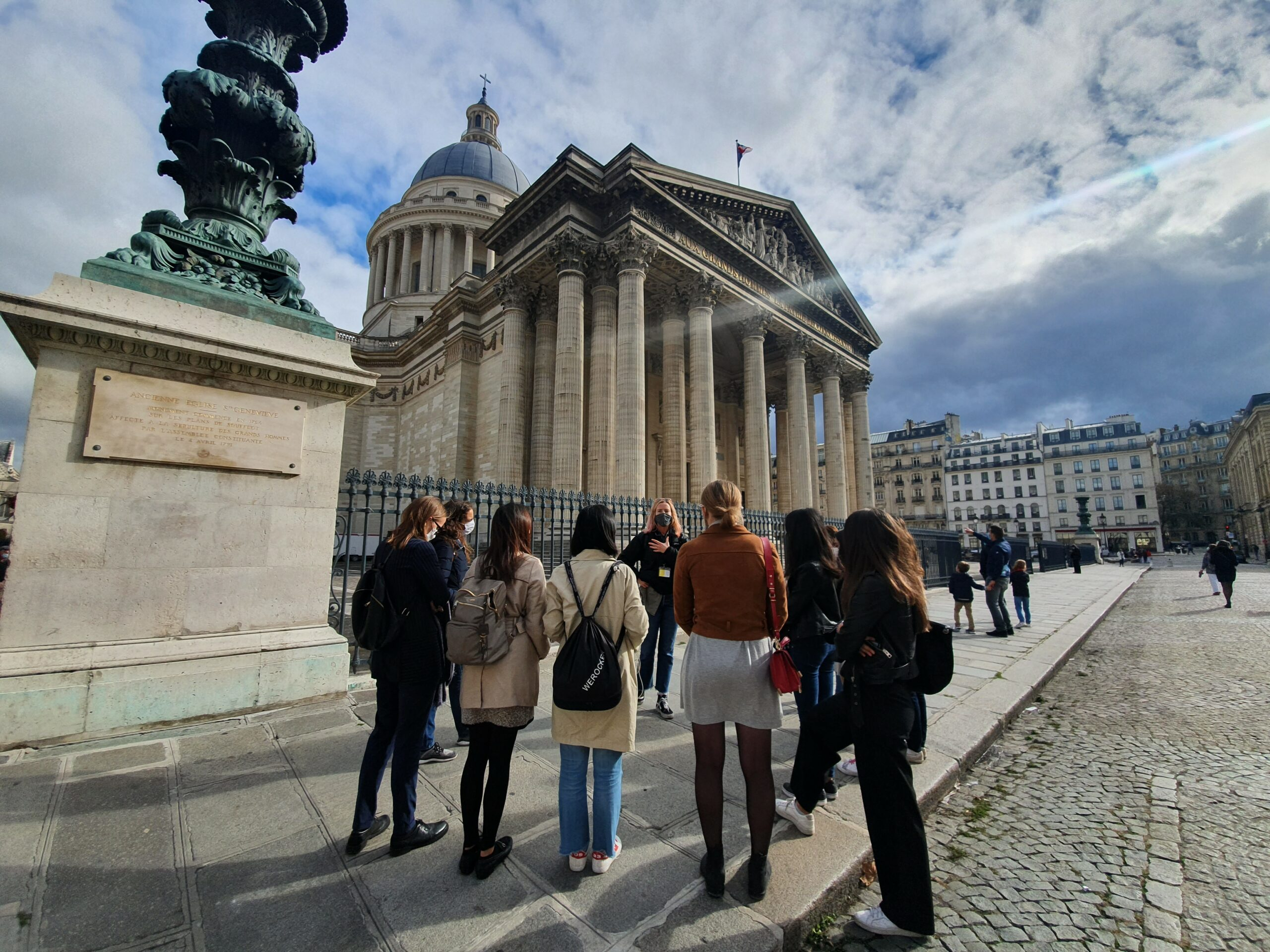 A group of HEC Paris MBA students see the Pantheon during a Paris Tour designed to introduce them to the women who changed French history