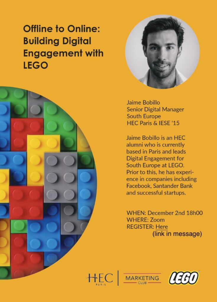 Poster for Offline to Online: Building Digital Engagement with LEGO