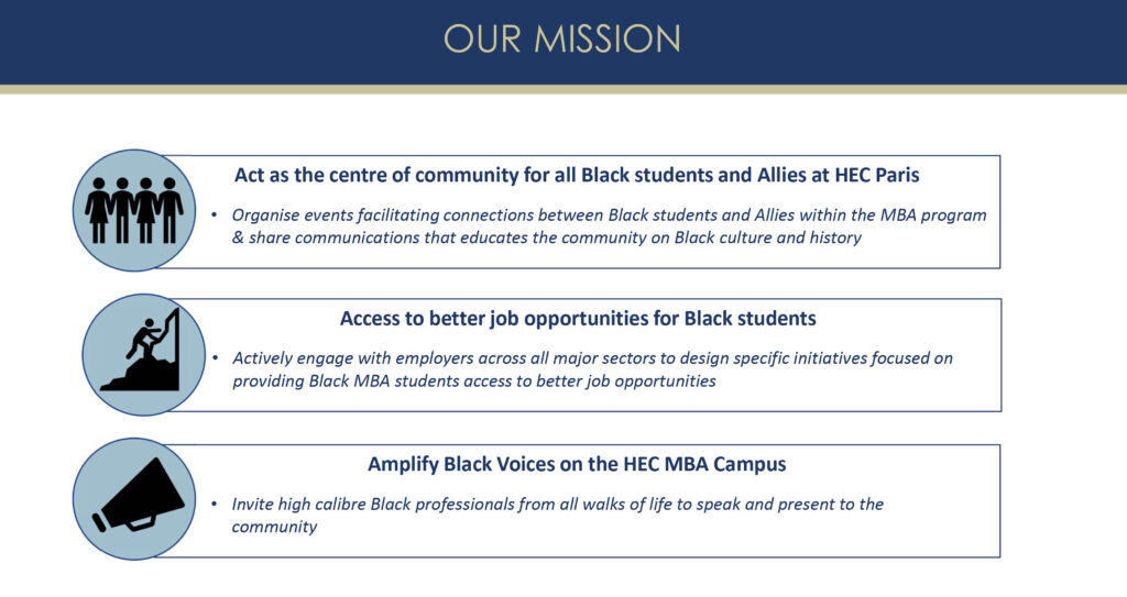 A mission statment for the Black in Business Club