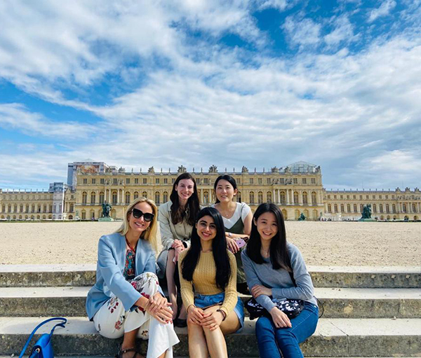 In front of the chateau in Versailles