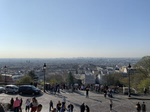 Tarek shares a view of Paris looking out from the front of Sacre Coeur
